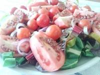 Як приготувати cалат із мангольд з насінням льону - рецепт