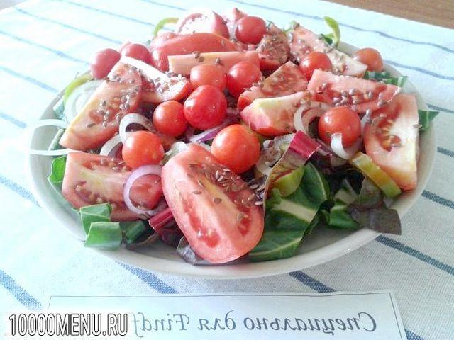 Фото - Овочевий салат з мангольда з насінням льону - фото 10 кроку