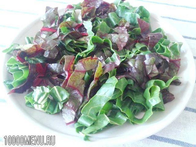 Фото - Овочевий салат з мангольда з насінням льону - фото 7 кроку