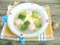 Як приготувати дитячий суп з фрикадельками і брокколі - рецепт