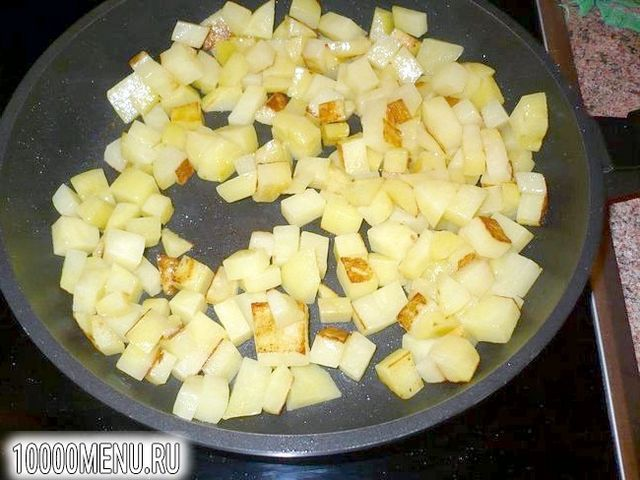Фото - Квасоля тушкована з картоплею в сметані - фото 3 кроки