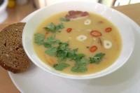 Як приготувати гороховий суп пюре з копченою грудинкою - рецепт