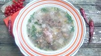 Як приготувати грибний суп з курячими сердечками і зеленої гречкою - рецепт