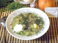 Як приготувати грибний суп зі щавлем - рецепт