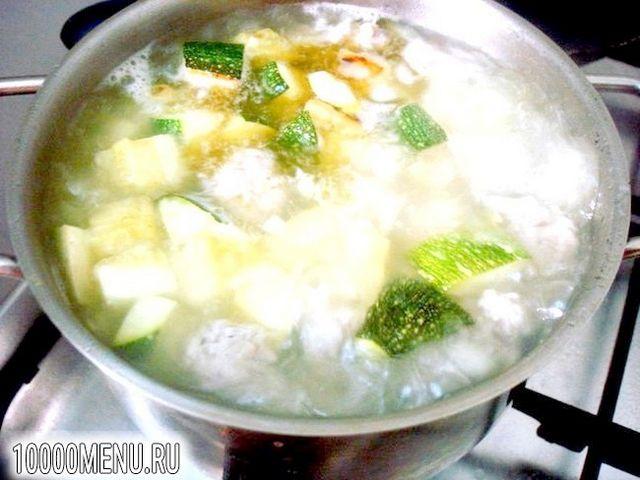 Фото - Суп пюре з цукіні з фрикадельками - фото 7 кроку