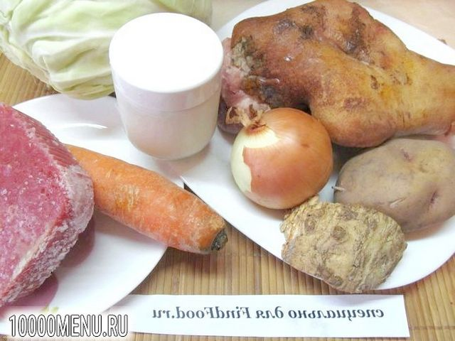 Фото - Капусняк на рулька з кислою і свіжої капусти - фото 1 кроку
