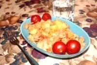 Як приготувати картопля тушкована з м'ясом і цвітною капустою - рецепт