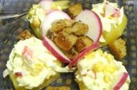 Як приготувати картопляні лукошки з салатом - рецепт