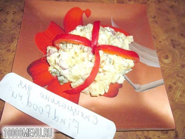 Фото - Картопляний салат з шинкою і маринованими огірочками - фото 8 кроку