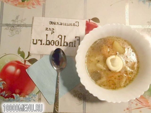 Фото - Картопляний суп з пір'їнками - фото 7 кроку