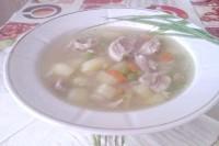 Як приготувати картопляний суп зі свининою і зеленим горошком? рецепт