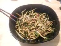 Як приготувати китайський гострий салат з огірків - рецепт