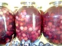 Як приготувати консервований виноградний компот - рецепт