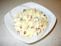 Як приготувати крабовий салат і сухариками - рецепт
