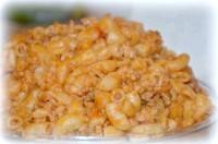 Як приготувати макарони з фаршем і томатної засмажкою - рецепт