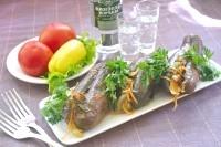 Як приготувати маринований баклажан з запеченим перцем - рецепт