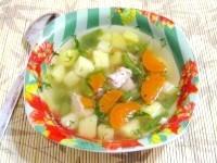 Як приготувати м'ясний суп з молодою картоплею - рецепт