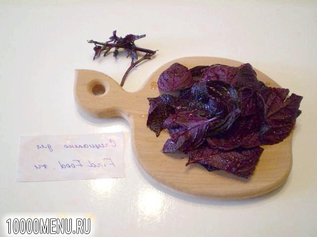 Фото - Напій з фіолетового базиліка - фото 2 кроки