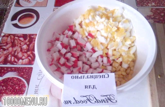 Фото - Ніжний крабовий салат - фото 6 кроку