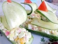 Як приготувати огіркові кораблики - рецепт