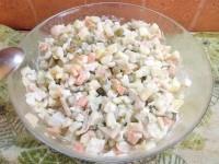 Як приготувати олів'є з морепродуктами - рецепт