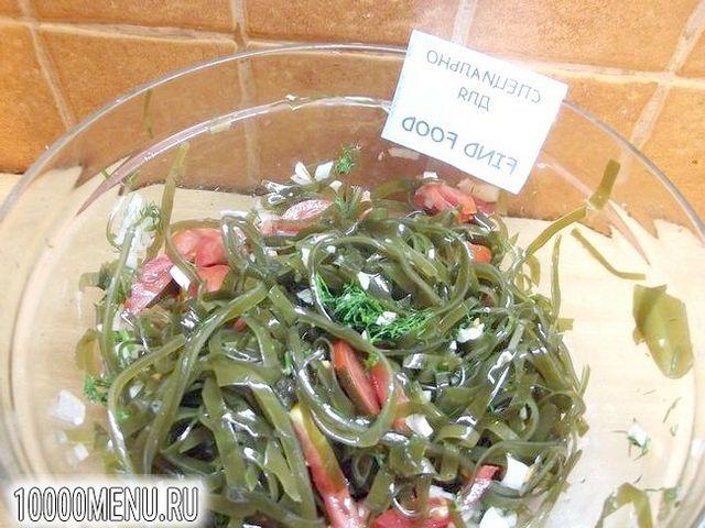 Фото - Гострий салат з ламінарії з цибулею і часником - фото 6 кроку