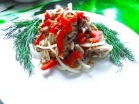 Як приготувати гострий салат з куркою і болгарським перцем - рецепт