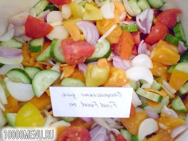Фото - Овочевий салат на зиму - фото 5 кроку