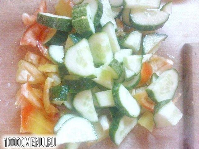 Фото - Овочевий салат з часником - фото 2 кроки