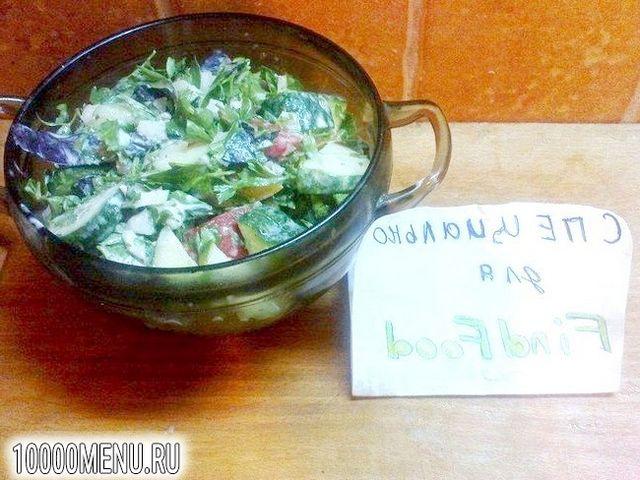 Фото - Овочевий салат з часником - фото 7 кроку