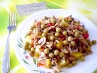 Як приготувати овочевий салат з грибами і перцем чилі - рецепт