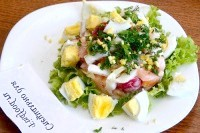 Як приготувати овочевий салат з яйцем - рецепт