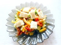 Як приготувати овочевий салат з кунжутом - рецепт