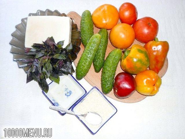Фото - Овочевий салат з кунжутом - фото 1 кроку