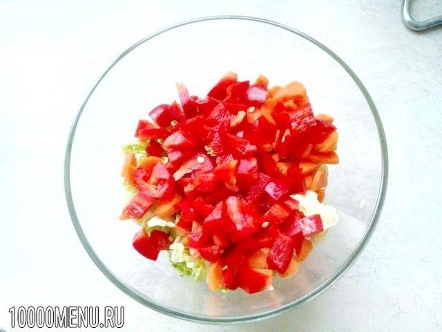 Фото - Овочевий салат з пекінською капустою - фото 4 кроки