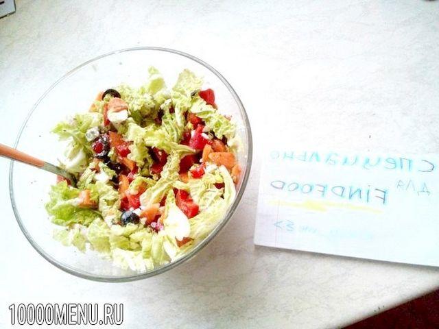 Фото - Овочевий салат з пекінською капустою - фото 5 кроку