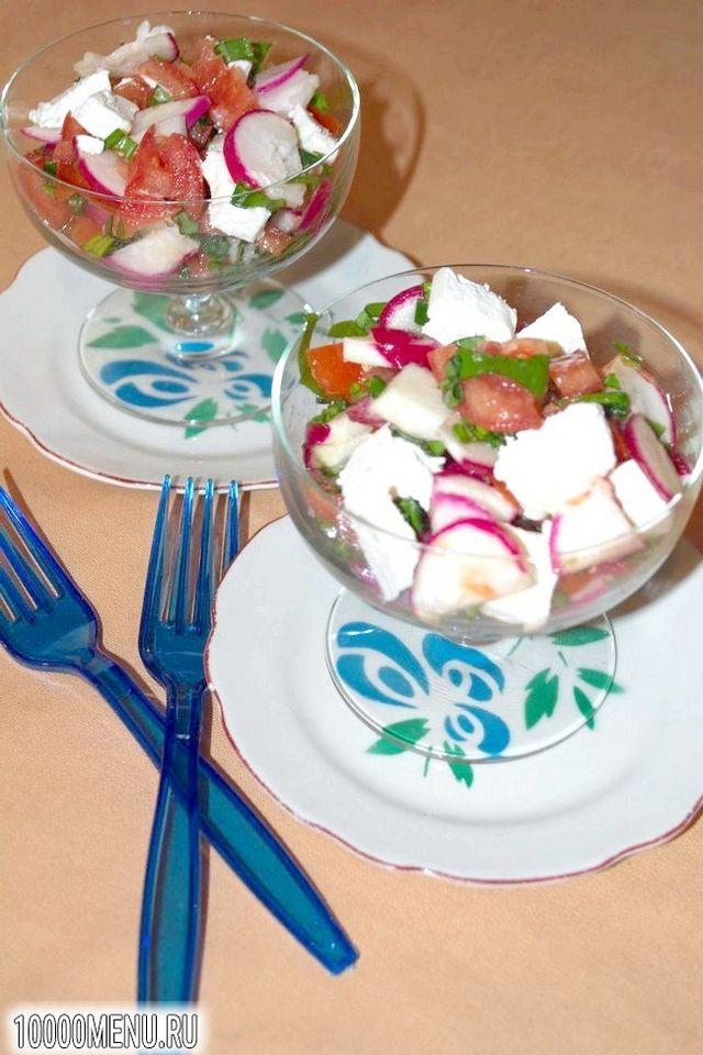 Фото - Овочевий салат з помідорами і фетою - фото 6 кроку
