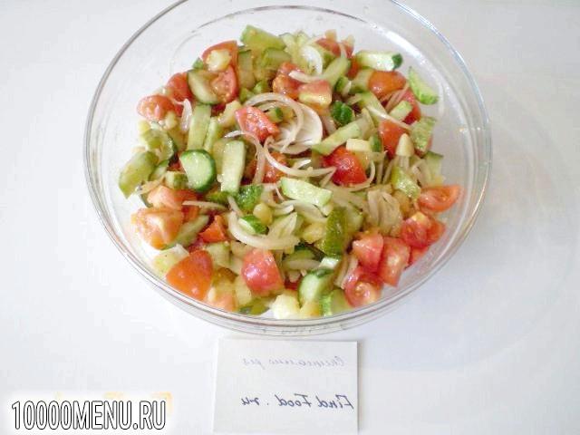 Фото - Овочевий салат з теплим картоплею - фото 9 кроку