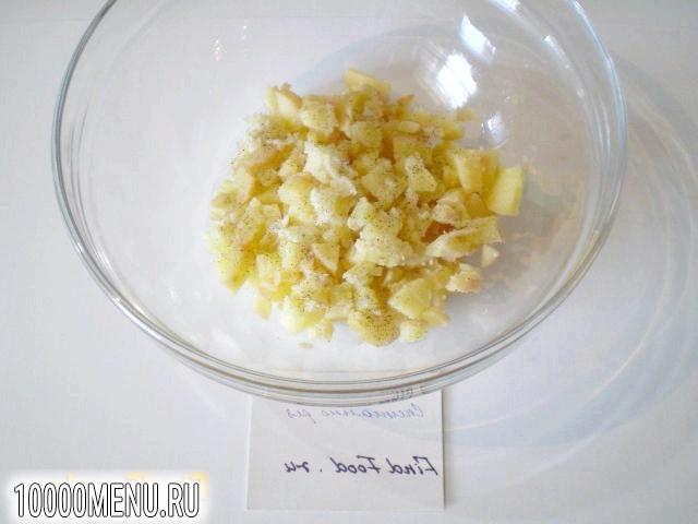 Фото - Овочевий салат з теплим картоплею - фото 4 кроки