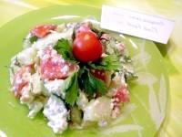 Як приготувати овочевий салат з сирною заправкою - рецепт