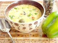 Як приготувати овочевий суп з сиром і грибами - рецепт