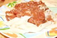 Як приготувати пасту з соусом з томатів і волоських горіхів - рецепт