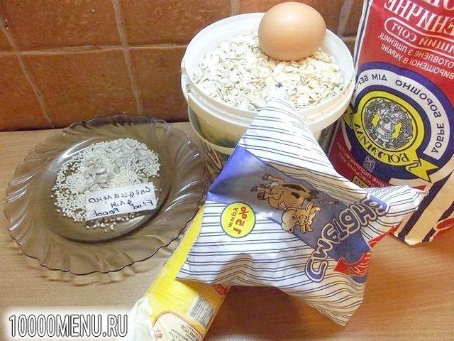 Фото - Печиво з вівсяними пластівцями і кунжутом - фото 1 кроку