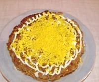 Як приготувати печінковий торт - рецепт