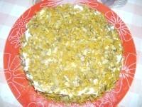 Як приготувати печінковий торт з печерицями - рецепт