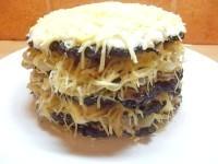 Як приготувати печінковий торт з сиром - рецепт