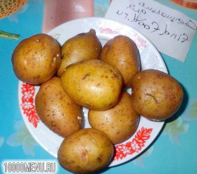 Фото - Печена картопелька з салом - фото 1 кроку