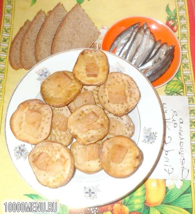 Фото - Печена картопелька з салом - фото 4 кроки