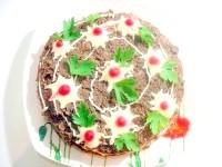 Як приготувати печінковий торт з грибами - рецепт