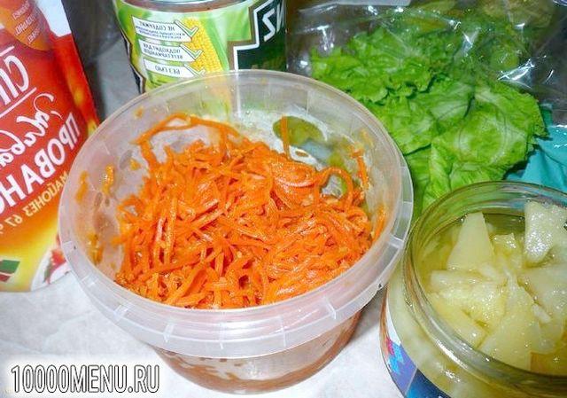 Фото - Пікантний салатик за п'ять хвилин - фото 1 кроку